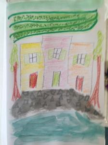 Cinque Terre, watercolor, me